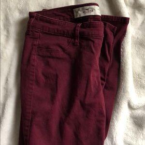 Maroon Hollister Jeans